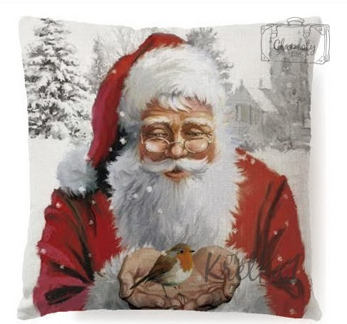 CUSHION COVER PILLOW CHRISTMAS TREE CHRISTMAS SANTA CLAUS GIFT TR3