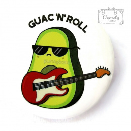 AVOCADO BUTTON WITH GUAC N`ROLL buton pin