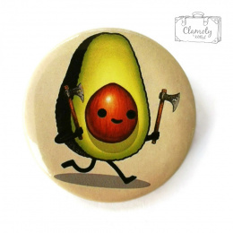 AVOCADO BUTTON WITH BUTON PINS
