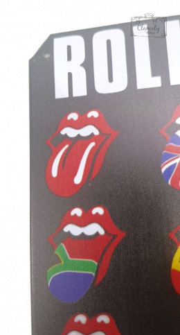THE ROLLING STONES LANGUAGES DECORATIVE BOARD