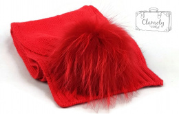 RED SCARF WITH A POMPON SUPER GIFT