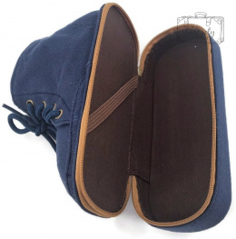 PENCIL CASE IN THE SHAPE OF SHOES NAVY BLUE SUPER GIFT