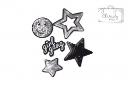 A SET OF SILVER PATCHES STARS